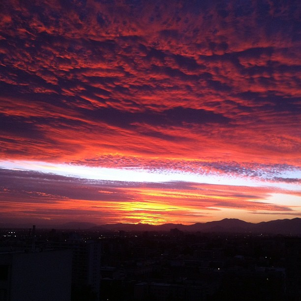 sunset in santiago de chile