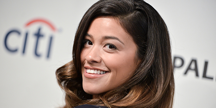 Gina Rodriguez arrives at the 2014 PALEYFEST Fall TV Previews - The CW on Saturday, Sept. 6, 2014, in Beverly Hills, Calif. (Photo by Richard Shotwell/Invision/AP)